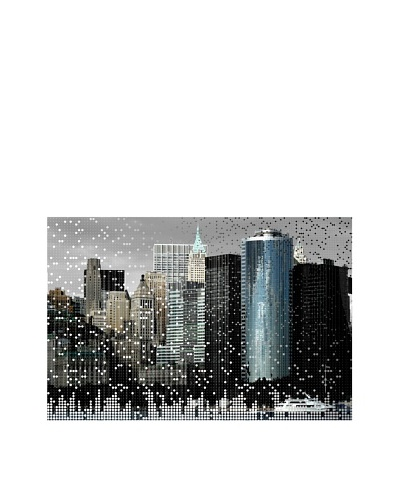 Jordan Carlyle Speckled City on Canvas