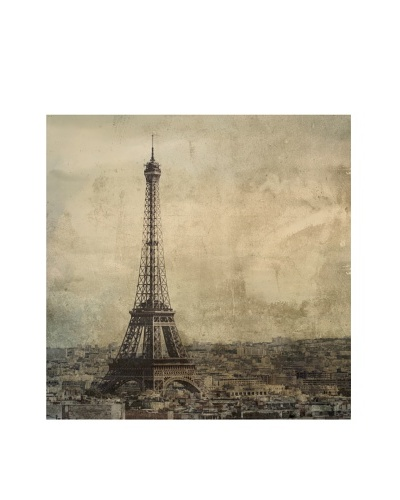 Jordan Carlyle Eiffel Tower with Gray Background on Canvas