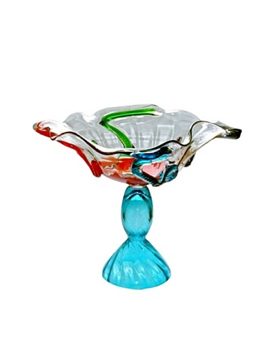 Jozefina Art Glass Rainbow Bowl, Clear/Multi