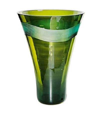 Jozefina Art Glass Brisa Vase, Green