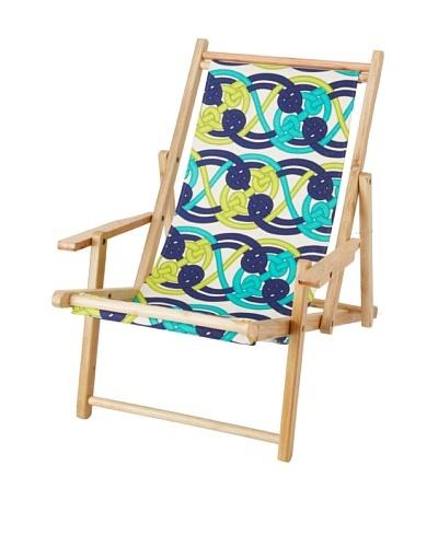 Julie Brown Reversible Beach Chair, Navy Voyage/Navy Skipper