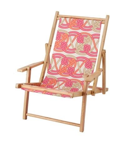Julie Brown Reversible Beach Chair, Pink Voyage/Pink Skipper