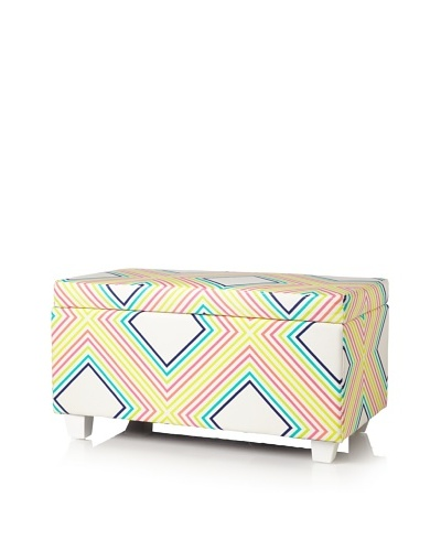 Julie Brown Indoor/Outdoor Long Storage Ottoman, Sunshine