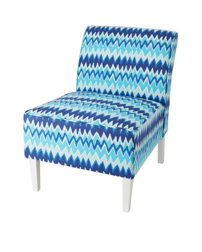 Julie Brown Indoor/Outdoor Accent Chair, Blue Charlie