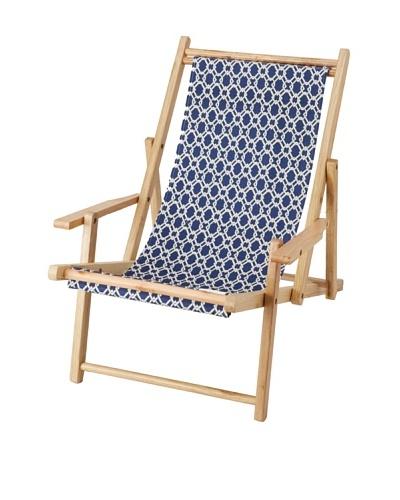 Julie Brown Reversible Beach Chair, Navy Pretzel/Green Pretzel