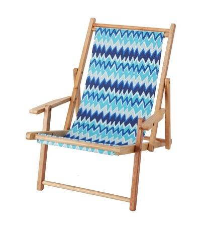 Julie Brown Reversible Beach Chair, Blue Wildflower/Blue Charlie