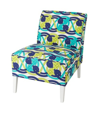 Julie Brown Indoor/Outdoor Accent Chair, Navy Voyage