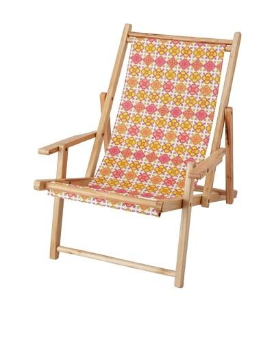 Julie Brown Reversible Beach Chair, Pink Jimmie/Blue Jimmie