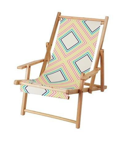 Julie Brown Reversible Beach Chair, Sunshine/Yellow Polka Dot