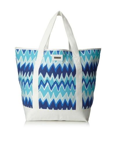 Julie Brown Beach Tote Bag, Blue Charlie