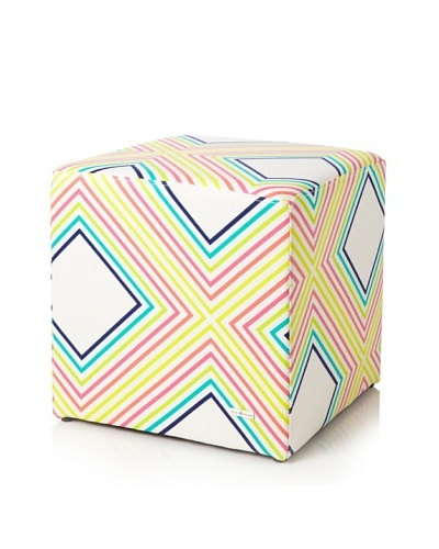 Julie Brown Indoor/Outdoor Square Ottoman, Sunshine