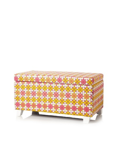 Julie Brown Indoor/Outdoor Long Storage Ottoman, Pink Jimmie