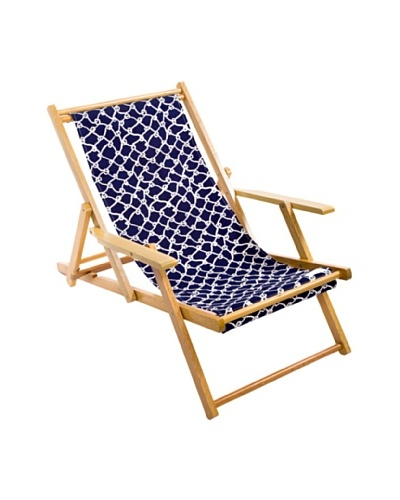 Julie Brown Navy/Coral Reversible Beach Chair