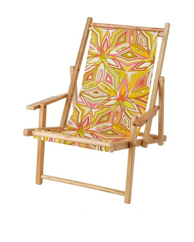 Julie Brown Reversible Beach Chair, Peach Sangria/Yellow Skipper