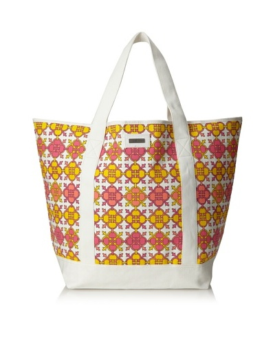 Julie Brown Beach Tote Bag, Pink Jimmie