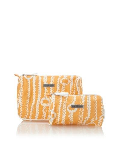 Julie Brown Set of 2 Cosmetic Bags [Orange Chains]
