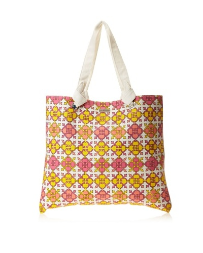 Julie Brown Reversible Shopper, Pink Jimmie/Blue Jimmie