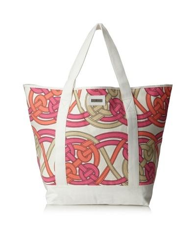 Julie Brown Beach Tote Bag, Pink Voyage