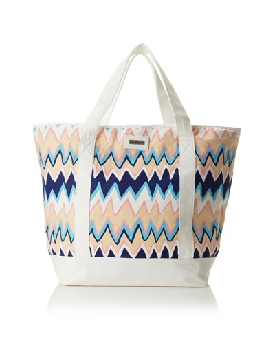 Julie Brown Medium Tote Bag with Cooler Lining [Blue Charlie]