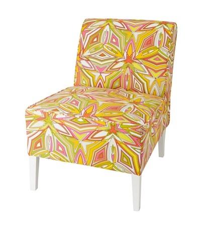 Julie Brown Indoor/Outdoor Accent Chair, Peach Sangria