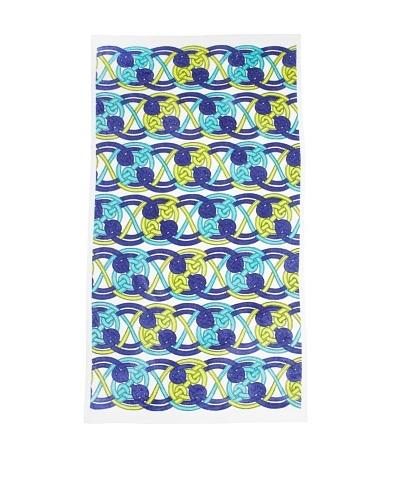 Julie Brown Plush Beach Towel, Blue Voyage, 36 x 64