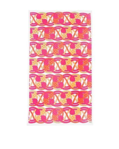 Julie Brown Plush Beach Towel, Pink Voyage, 36 x 64