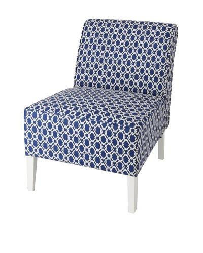 Julie Brown Indoor/Outdoor Accent Chair, Navy Pretzel