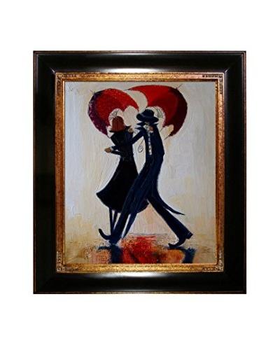 Justyna Kopania Red Umbrellas Framed Giclée on Canvas