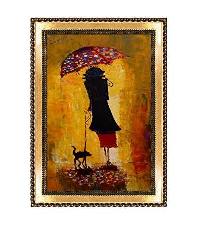 Justyna Kopania Rain (Out For A Stroll) Framed Giclée on Canvas