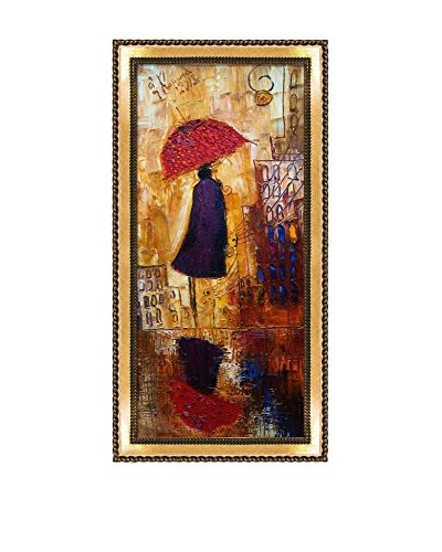 Justyna Kopania Rain (Out For A Stroll) III Framed Giclée on Canvas