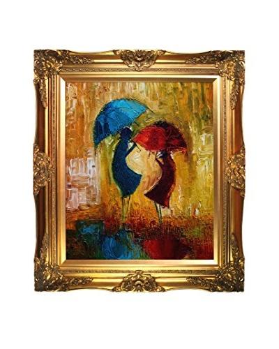 Justyna Kopania Rain (Red And Blue) Framed Giclée on Canvas