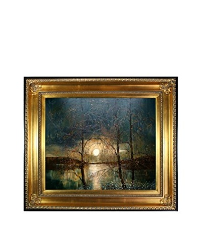 "Justyna Kopania ""Moon (Reflections) II"" Framed Giclée on Canvas"