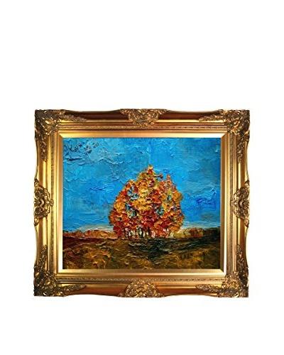 Justyna Kopania Autumn (Blue Skies) Framed Giclée on Canvas
