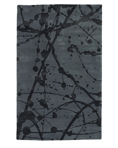 Kabir Handwoven Rugs Urban City Rug [Graphite]
