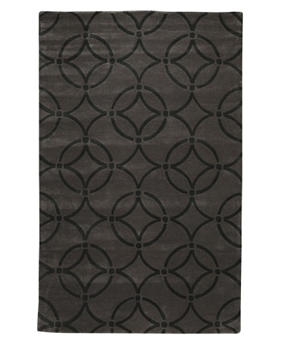 Kabir Handwoven Rugs Contemporary Rug [Slate/Black]
