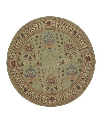 Kabir Handwoven Rugs Wonders Select Rug, Sage Multi, 7' 6 Round