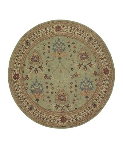 """Kabir Handwoven Rugs Wonders Select Rug, Sage Multi, 7' 6"""" Round"""