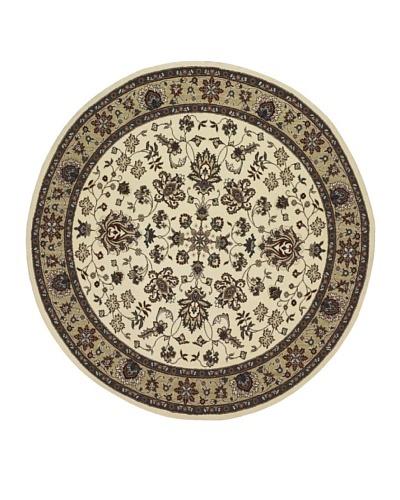 Kabir Handwoven Rugs Wonders Select Rug, Ivory Multi, 7' 6 Round