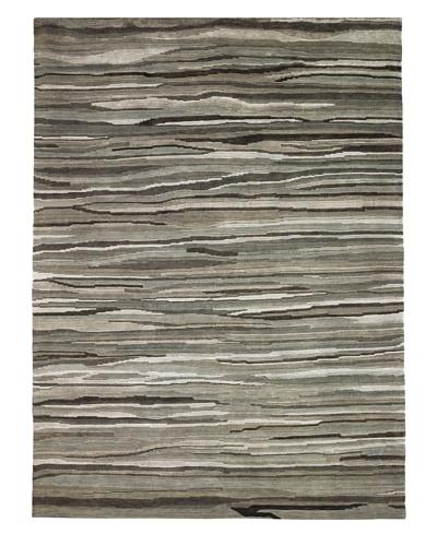 Kabir Handwoven Rugs Sheer Elegance Rug, Silver/Grey, 6' x 9'