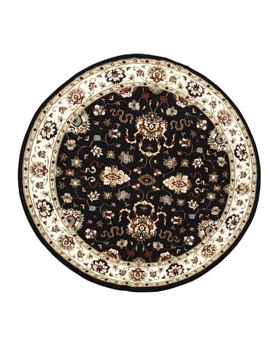 Kabir Handwoven Rugs Wonders Select Rug, Black Multi, 7' 6 Round