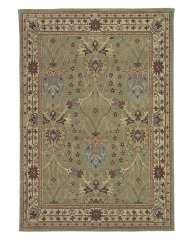 Kabir Handwoven Rugs Wonders Select Rug, Green Multi, 5' 3 x 7' 6