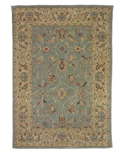 Kabir Handwoven Rugs Wonders Select Rug, Sage Multi, 5' 3 x 7' 6