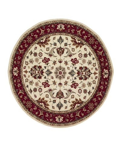 Kabir Handwoven Rugs Wonders Select Rug, Maroon Multi, 7' 6 Round