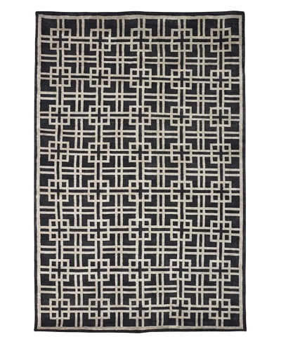 Kabir Handwoven Rugs  Linen Rug, Charcoal/Grey, 6' x 9'As You See