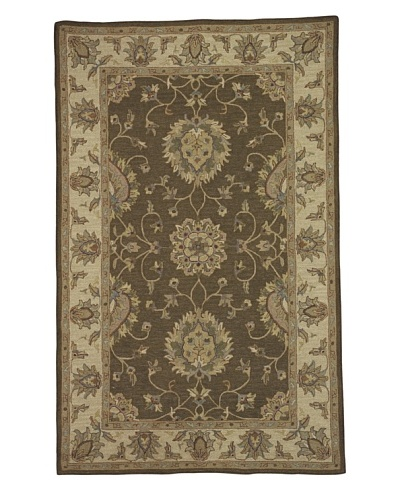 Kabir Handwoven Rugs Soumak Rug [Brown Multi]