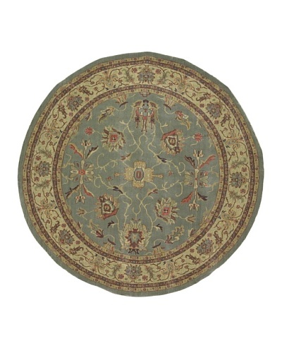 Kabir Handwoven Rugs Wonders Select Rug, Green Multi, 7' 6 Round