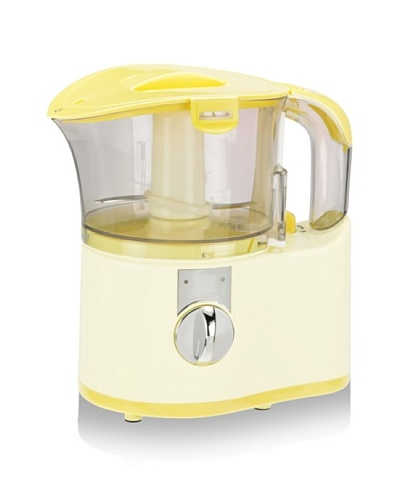 Kalorik Chopper/Baby Food Maker, White/Yellow, 2-Cup