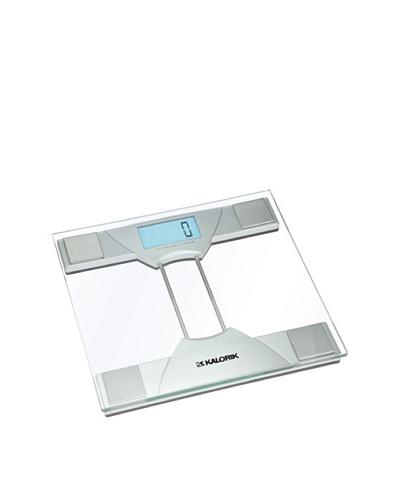 Kalorik Electronic Bathroom Scale, Silver/Clear
