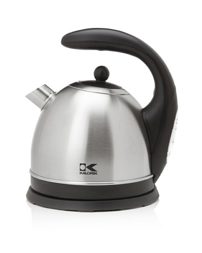 Kalorik Cordless 57-Oz. Dome-Shaped Jug Kettle, Stainless Steel