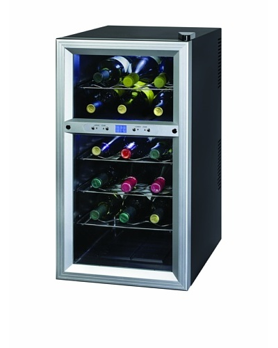 Kalorik Thermoelectric Dual-Zone 18-Bottle Ventilated Wine Cooler [Stainless Steel/Black]